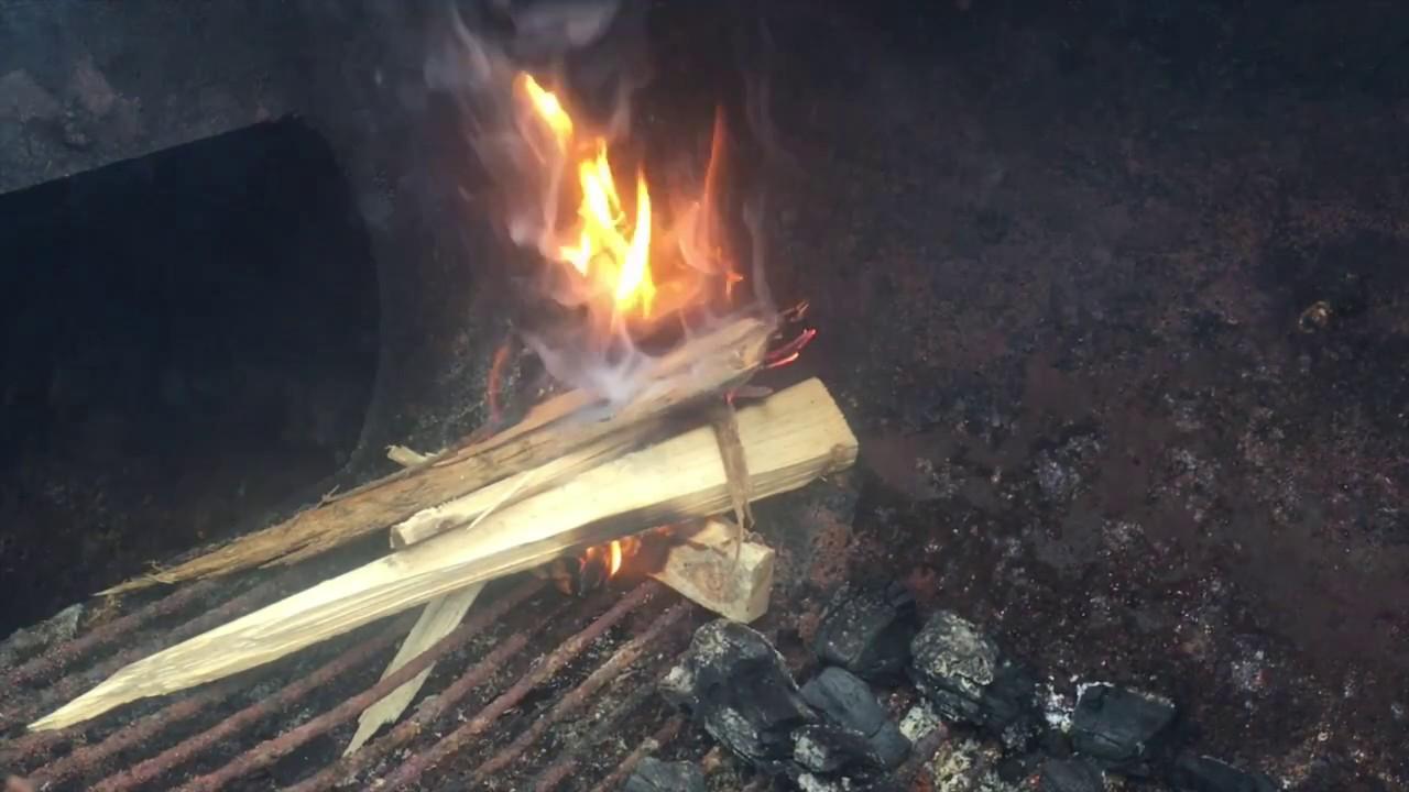 used motor oil fire starter the test burn youtube
