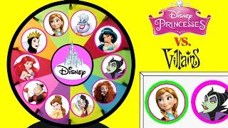 Disney Princesses VS Villains Spinning Wheel Game Punch Box Surprise Toys