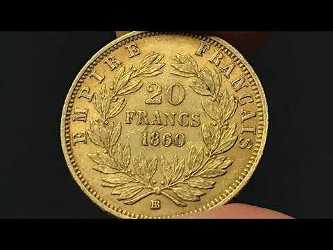 1860 France 20 Francs Coin •Values, Information, Mintage, History, and More