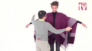 TIP: Chu shows you three ways with a poncho
