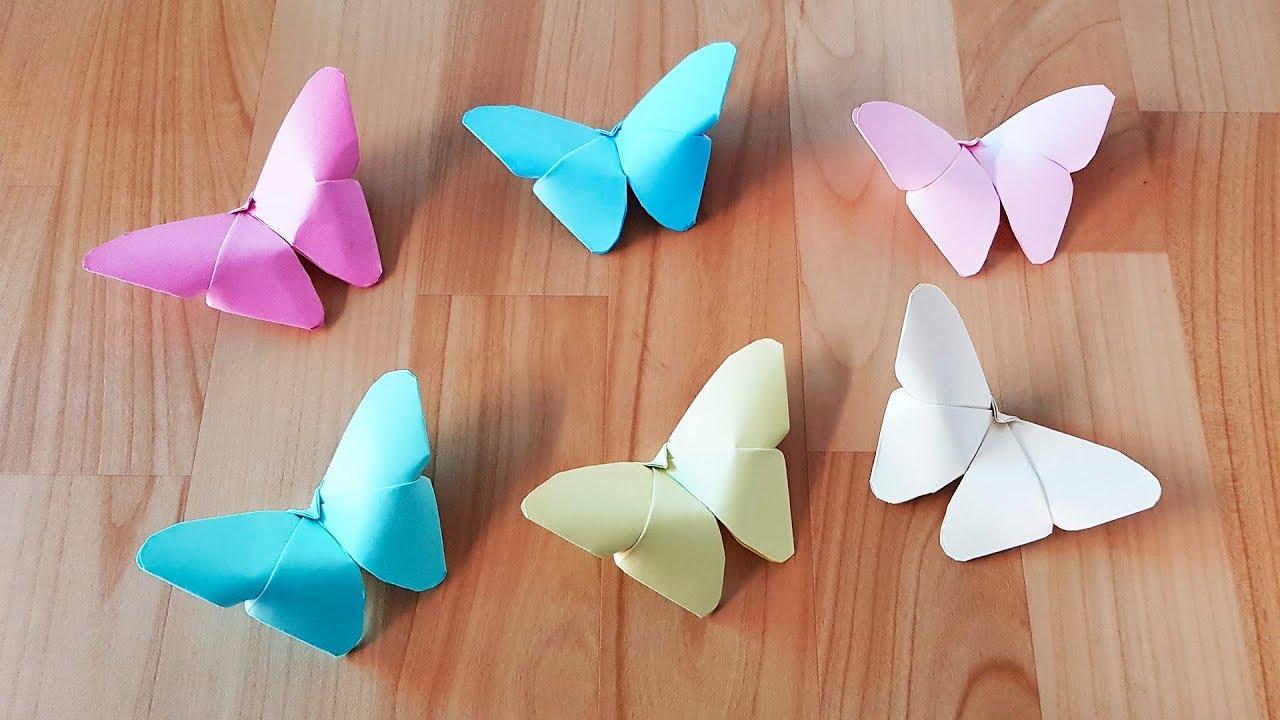 Como hacer mariposas de papel r pido y f cil mariposa - Ver como hacer manualidades ...