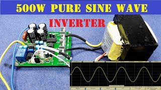 Share How To Make 500W Pure Sine Wave Inverter ! H Bridge Transformer Driver