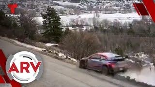 Carro se sale de pista y cae por un risco en pleno Rally de Monte Carlo | Al Rojo Vivo | Telemundo
