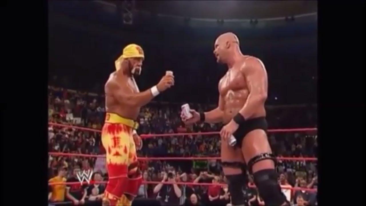 Hulk Hogan And Stone Cold Steve Austin In A Beer Bash