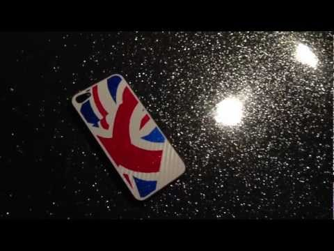 Flag of United Kingdom - Union Jack GLITTER and CARBON Sticker for iPhone 5