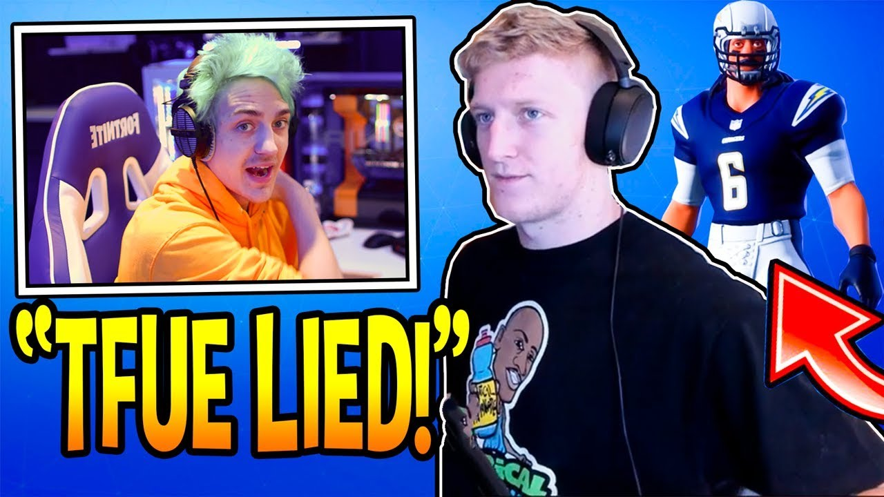 ninja-reacts-to-tfue-lying-about-epic-giving-him-nfl-skins-without-permission-fortnite-moments