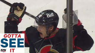 Gotta See It: Tim Stützle Shows Off Incredible Hand-Eye For First NHL Goal