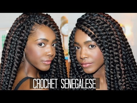 How To Install Crochet Box Braids : ... Looking Crochet Senegalese Twists // Braiding Pattern + Installing