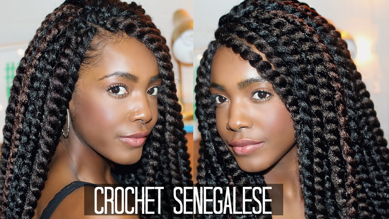 How To Easy Natural Looking Crochet Senegalese Twists Braiding