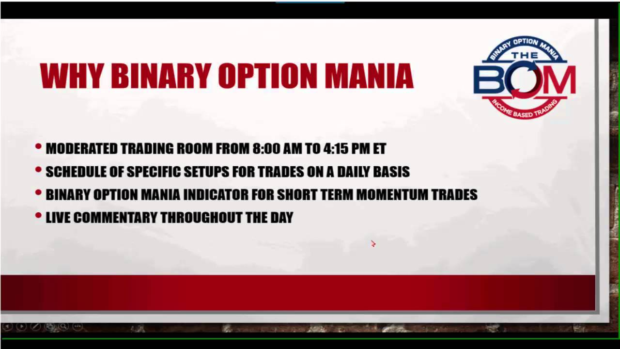Binary options mania