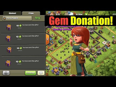 Insane Gems Donation In Clash Of Clans!