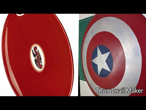 I turned a sled into a Captain America Shield
