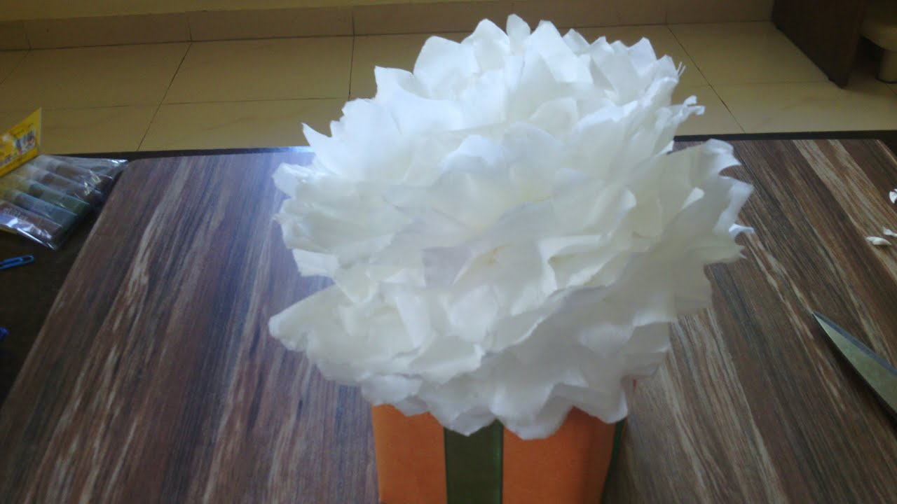 Christmas Gift Wrapping Ideas How To Make Pom Pom Flowers Making