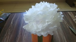 Christmas Gift Wrapping Ideas   How to make pom pom flowers   Making Tissue Paper Flowers