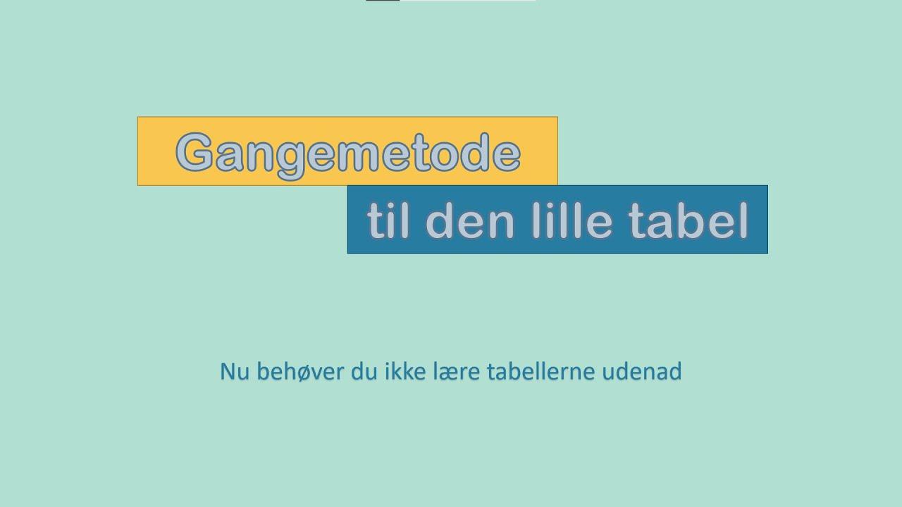 Gangetrick så du ikke behøver at lære tabellerne udenad! - gangemetode