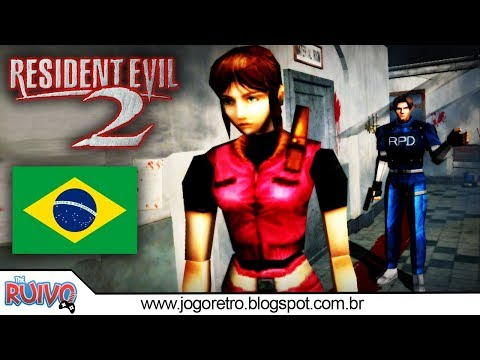 Resident Evil 2 DUBLADO em Português no Playstation 1 (NOVA DUBLAGEM 2018)
