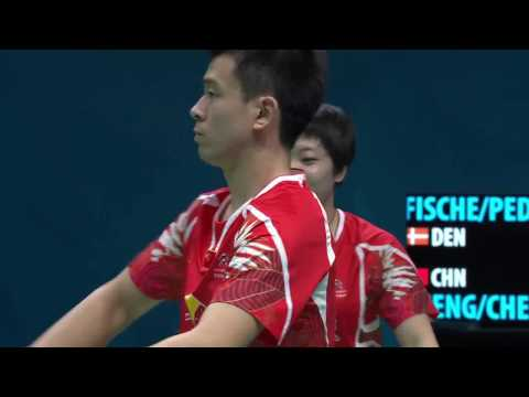 Dubai World Superseries Finals 2016 | Badminton SF2 M4-XD | Fis/Ped vs Zheng/Chen