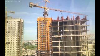 Строительство домов II очереди Квартала Европейский за июнь 2015г. (камера 1)