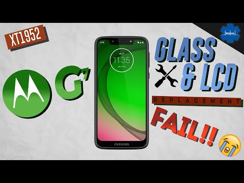 Moto G7 PLAY LCD & Glass Replacement Detail / Partial Fail 😭