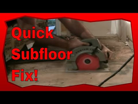 How to Repair Subflooring Using A Porter Cable Circular Saw