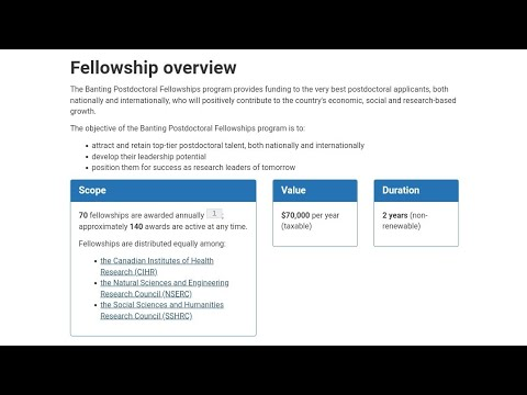Banting Postdoctoral Fellowship Program By Govt. Of Canada [70 Fellowships Upto Rs. 39L]