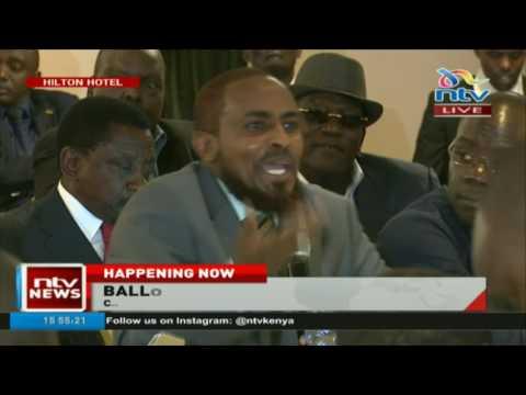 Abduba Dida's hilarious remarks when Presidential candidates met IEBC