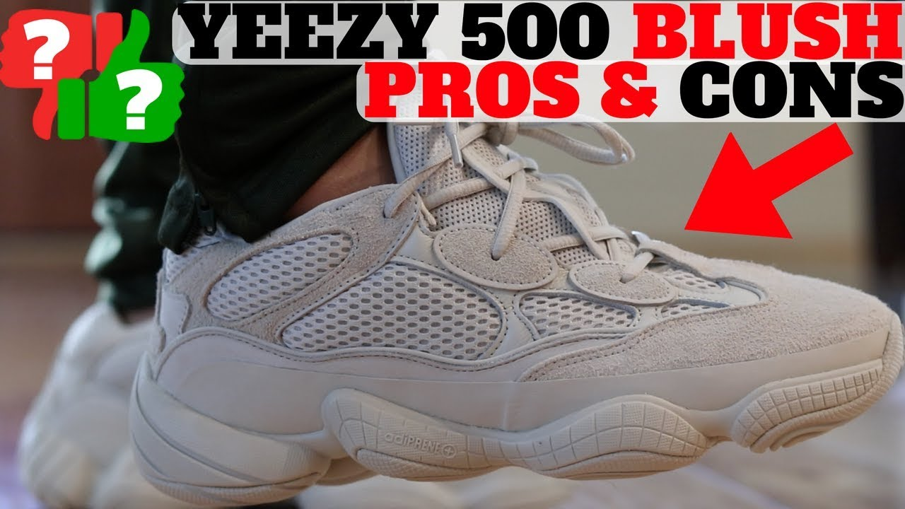 6323c84a5b6 PROS   CONS  YEEZY 500 BLUSH Review + On Feet! - YouTube