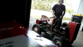 48 Ford Prefect Engine In Diy Homemade Tractor Vid #1