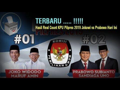 TERBARU ... !!! Hasil Real Count KPU Pilpres 2019 Jokowi vs Prabowo Hari Ini, Minggu 21 April 2019 | Wonderdir Pilpres