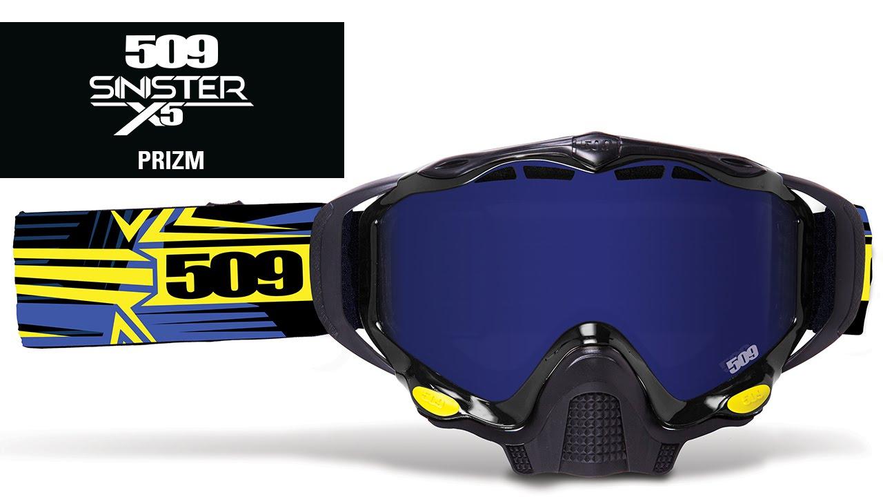 c38cada58d 509 - Sinister X5 Prizm Snowmobile Goggle - YouTube