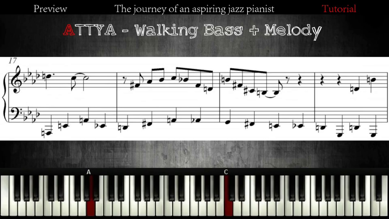 all the things you are: walking bass + melody │ jazz piano lessons #11 -  youtube  youtube