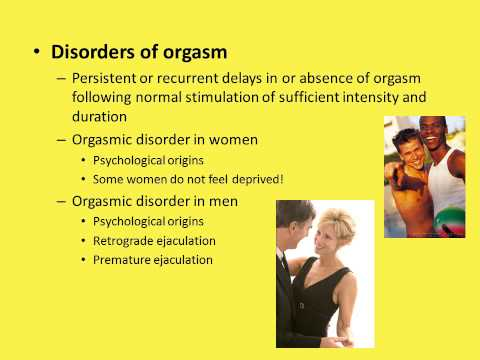Dr. Moyer's Chapter 12: Sexual dysfunctions