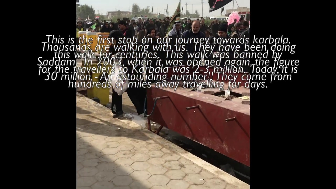 The walk from Najaf to Karbala A Journey to Treasure YouTube