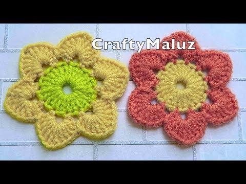 Crochet Tutorial Flor Tejida Fácil Paso A Paso Aplicación A Crochet Youtube