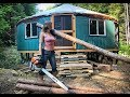 Living Off Grid - Yurt Homestead & Alone in Wilderness  A ...