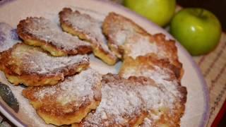 Простые оладьи из яблок. Быстро и вкусно. Что приготовить из яблок. Рецепт драников