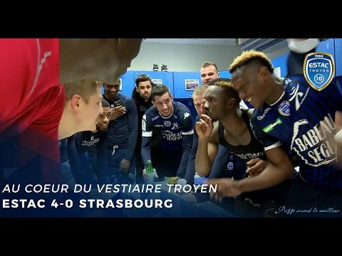 Estac rc strasbourg vestiaires d 39 apr s match youtube for Match estac