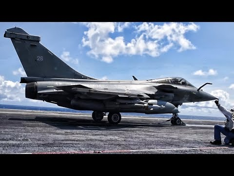 French Rafale-M Launch & Land Aboard U.S. Aircraft Carrier