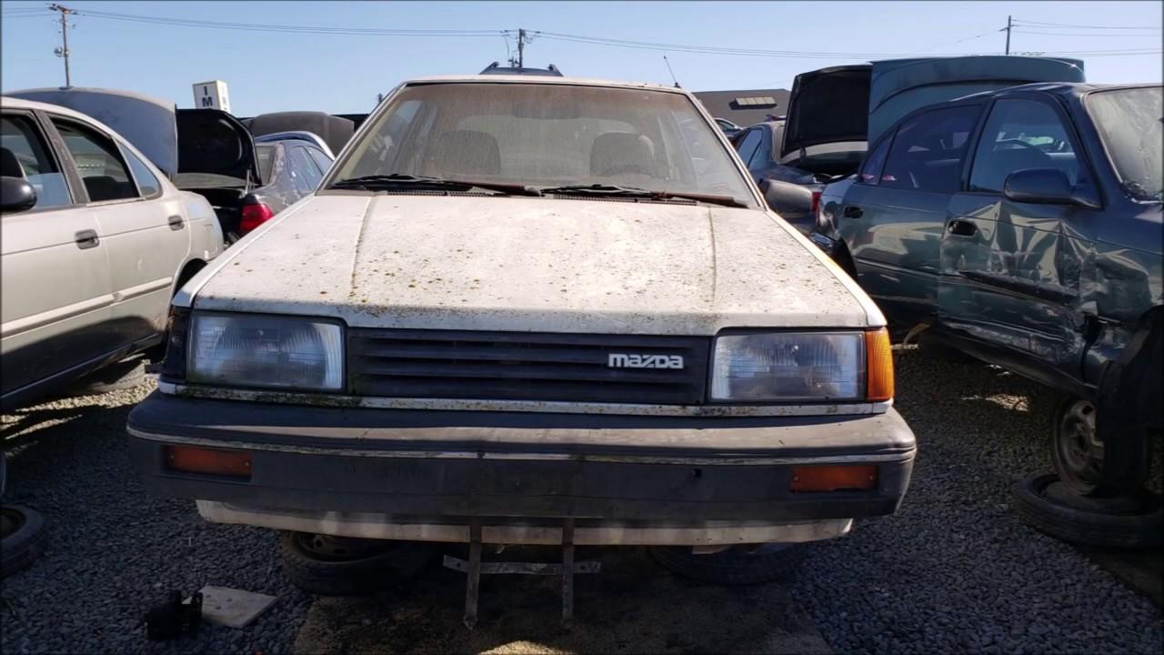 Junked Mazda 323 Hatchback 1986 Slideshow