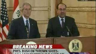 Bush Dodges Shoes Thrown by Iraqi Journalist thumbnail