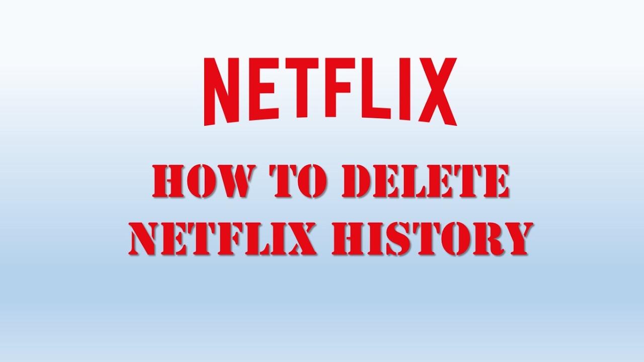 delete history on netflix