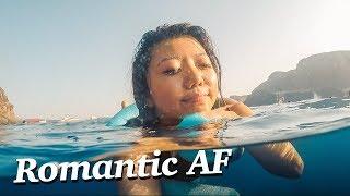 SANTORINI SUNSET CRUISE - too romantic for me 😭😂
