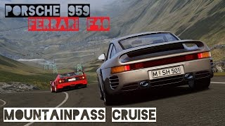 VR [Oculus Rift] Porsche 959 and Ferrari F40 cruising at Transfagarasan | Assetto Corsa Gameplay