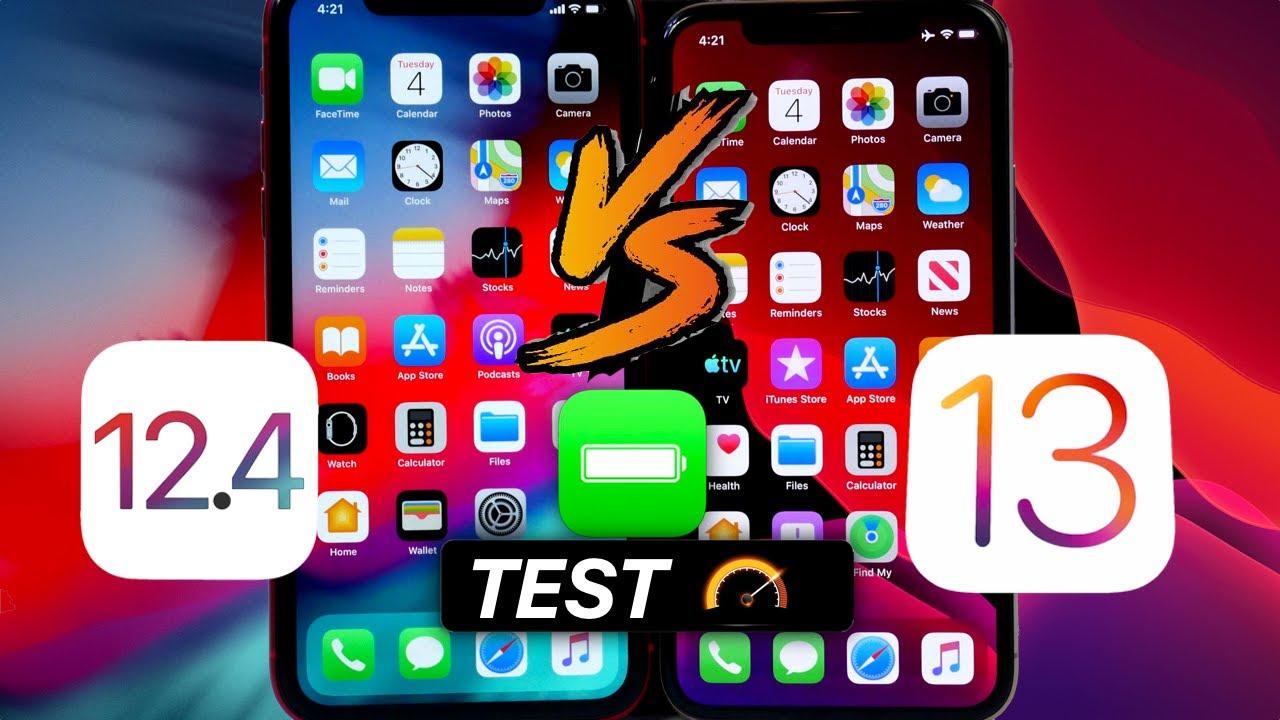 iOS 13 Vs iOS 12.4 Battery & Performance Test