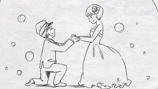 結婚式二次会 パラパラ漫画でサプライズ!