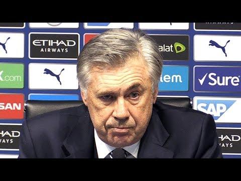 Man City 2-1 Everton - Carlo Ancelotti FULL Post Match Press Conference - Premier League