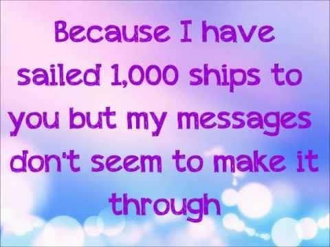 1,000 Ships-Rachel Platten Lyrics!