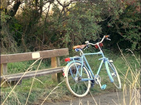 Escaping the town. Backroads on the Pashley Courier.