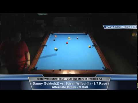 Danny Gokhul vs Susan Wilbur - Mezz WST 9 Ball - Bull Shooters in PHX
