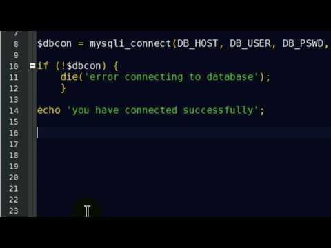 Connect to MySQL Database with PHP